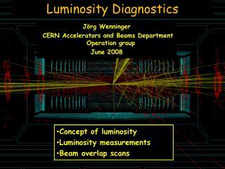 Luminosity Diagnostics