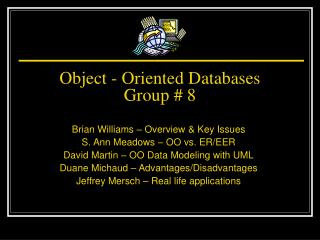 Object - Oriented Databases Group # 8