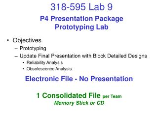 P4 Presentation Package Prototyping Lab