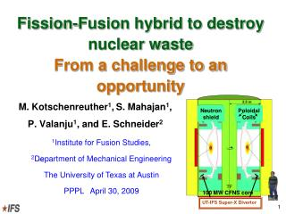 Fission-Fusion hybrid to destroy nuclear waste  From a challenge to an opportunity