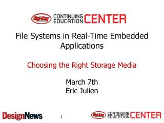 File  Systems  in Real-Time Embedded Applications