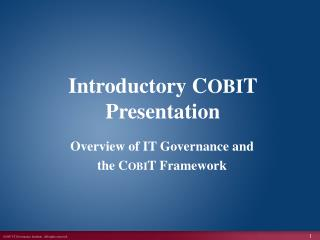 Introductory COBIT Presentation