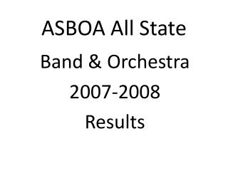ASBOA All State
