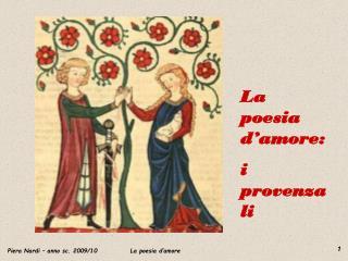 La poesia d'amore: i provenzali