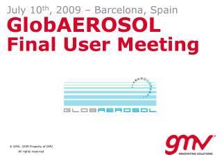 GlobAEROSOL  Final User Meeting