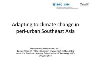 Adapting to climate change in peri-urban Southeast Asia