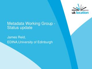 Metadata Working Group - Status update