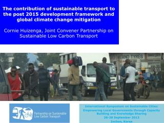 International  Symposium on Sustainable Cities:
