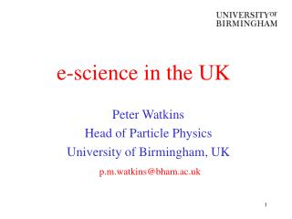 e-science in the UK