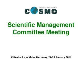 Scientific Management Committee Meeting