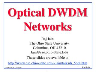Optical DWDM Networks