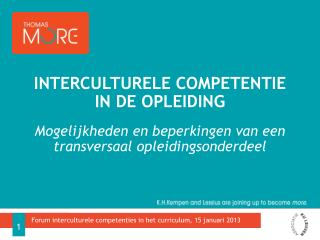 Interculturele competentie in de opleiding