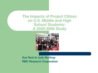 The Impacts of Project Citizen on U.S. Middle and High School Students: A 2005-2006 Study
