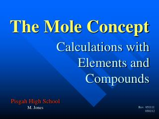 Calculations with Elements and Compounds