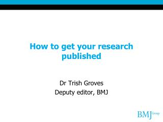 How to get your research published
