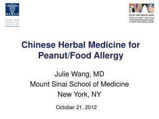 Chinese Herbal Medicine for Peanut/Food Allergy