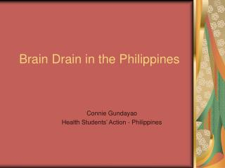 Brain Drain in the Philippines