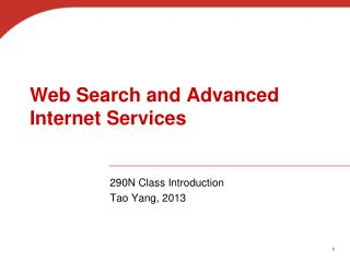 Web Search and Advanced Internet Services