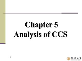 Chapter 5  Analysis of CCS