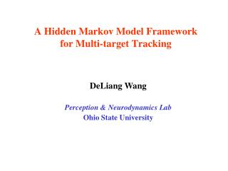 A Hidden Markov Model Framework for Multi-target Tracking