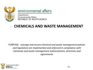 CHEMICALS AND WASTE MANAGEMENT