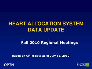 HEART ALLOCATION SYSTEM DATA UPDATE