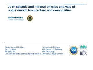 Joint seismic and mineral physics analysis of upper mantle temperature and composition