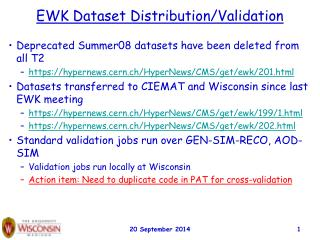 EWK Dataset Distribution/Validation