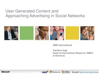 User Generated Content and  Approaching Advertising in Social Networks