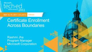 Certificate Enrollment  Across Boundaries