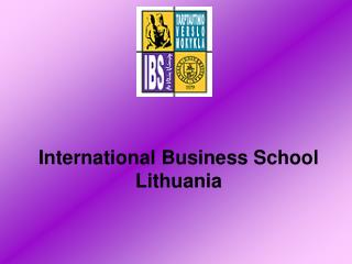 International Business School Lithuania