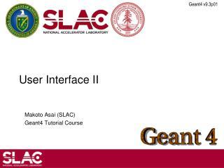User Interface II