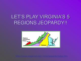 LET'S PLAY VIRGINIA'S 5 REGIONS JEOPARDY!!