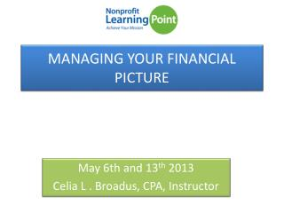MANAGING YOUR FINANCIAL PICTURE