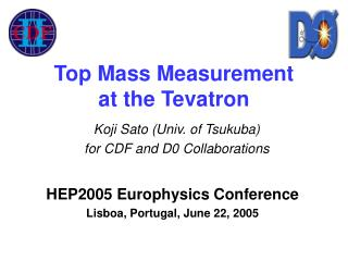 Top Mass Measurement  at the Tevatron