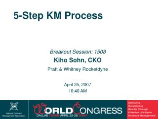 5-Step KM Process