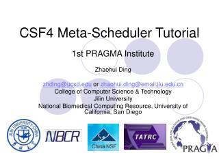CSF4 Meta-Scheduler Tutorial