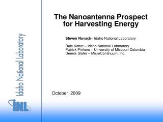 The Nanoantenna Prospect for Harvesting Energy