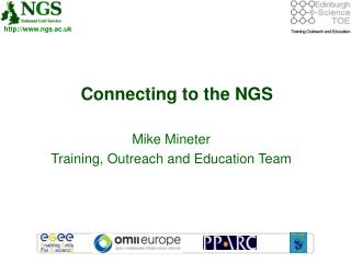 Connecting to the NGS