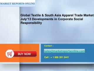 Contact :  sales@marketreportsonline Call : + 1 888 391 5441