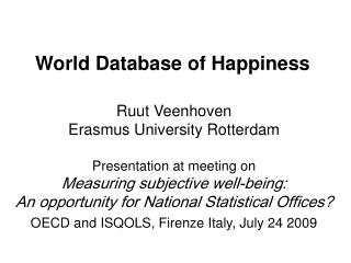 World Database of Happiness