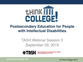 Postsecondary Education for People with Intellectual Disabilities