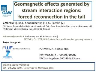 Geomagnetic effects generated by  stream interaction regions: forced reconnection in the tail