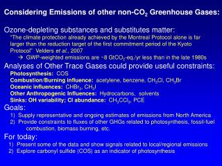 Considering Emissions of other non-CO 2  Greenhouse Gases: