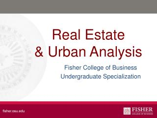 Real Estate & Urban Analysis