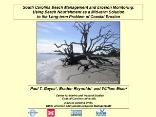 South Carolina Beach Management and Erosion Monitoring: