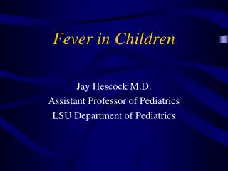 Fever in Children