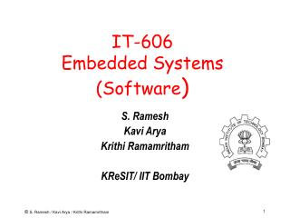 IT-606 Embedded Systems (Software )