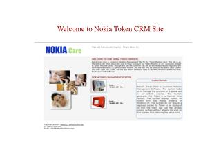 Welcome to Nokia Token CRM Site