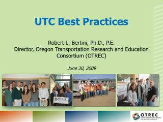 UTC Best Practices